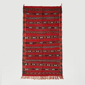 Roomology摩洛哥進口Zemmour羊毛手工編織沙漠掛毯地毯