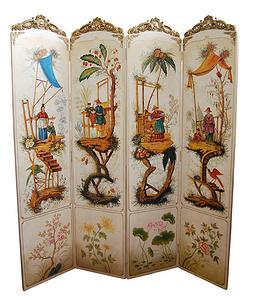 陶瓷配銅-屏風