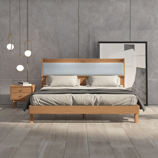 Cloud dream bed modern solid wood South American cherry bed