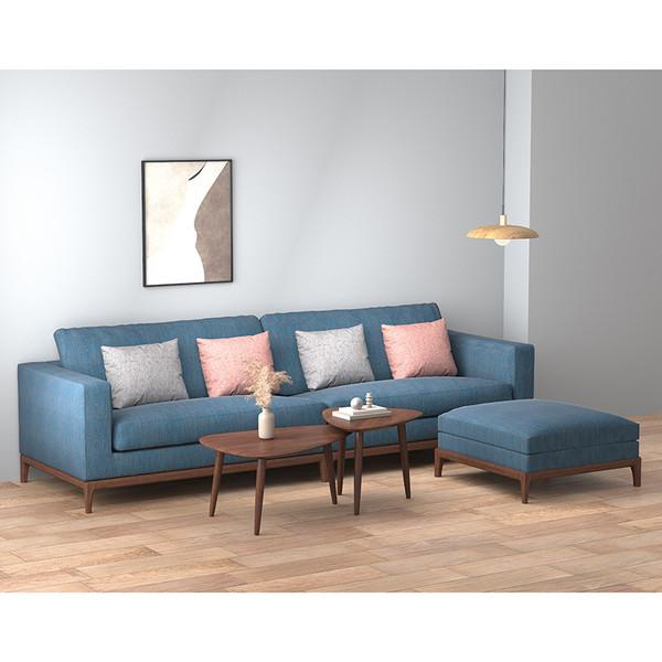Hedonic sofa modern solid wood South American cherry wood sofa