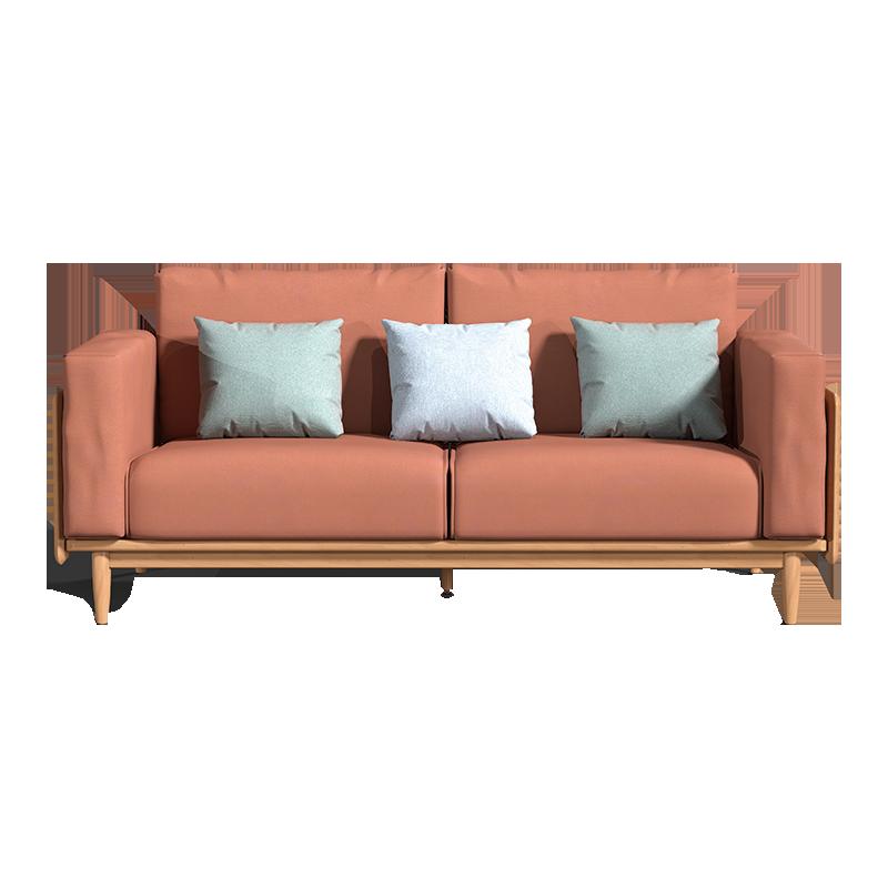 Homesick sofa modern solid wood South American cherry wood sofa