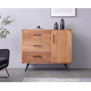 北歐實木餐邊柜簡約現代原木色茶水柜大容量收納玄關儲物餐桌柜