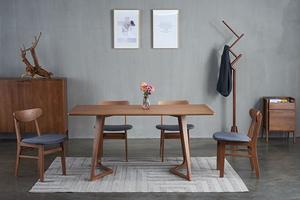 北歐風格現代簡約餐桌白蠟木全實木桌椅家用小戶型飯桌餐廳家具 T526-160