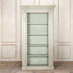 LI-S13-12-114 欧式 实木 做旧 书柜