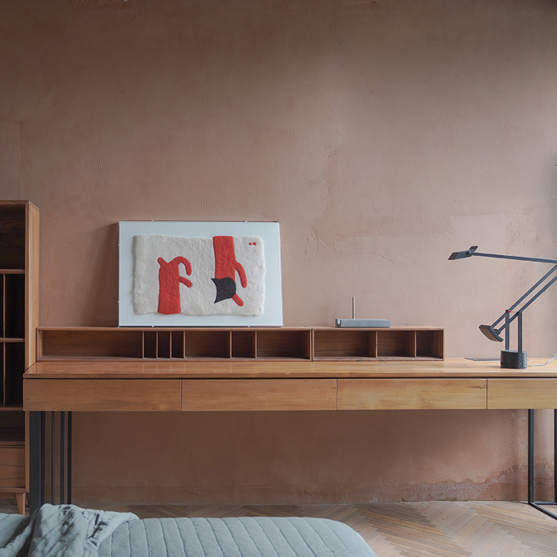一屿家居 实木大童儿童书桌