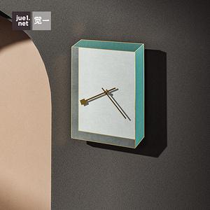 覺一北歐風家居軟裝飾品房間掛鐘家用客廳藝術個性靜音掛墻時鐘