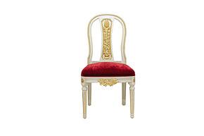 LI-SH20-22-271 欧式 实木 金箔 复古 做旧 餐椅
