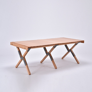 櫸木戶外蛋卷桌