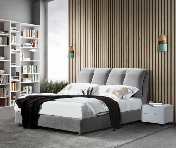 现代简约灰色布艺软床