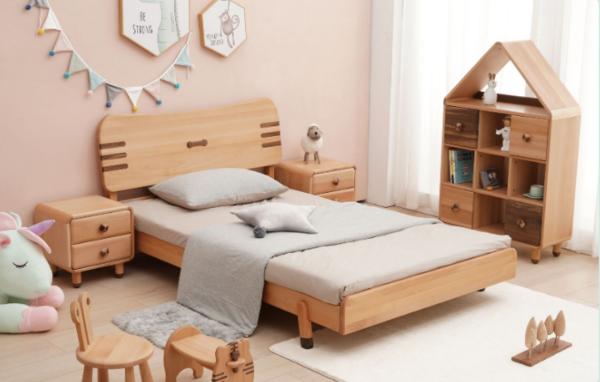 欧洲进口榉木+北美胡桃木儿童床