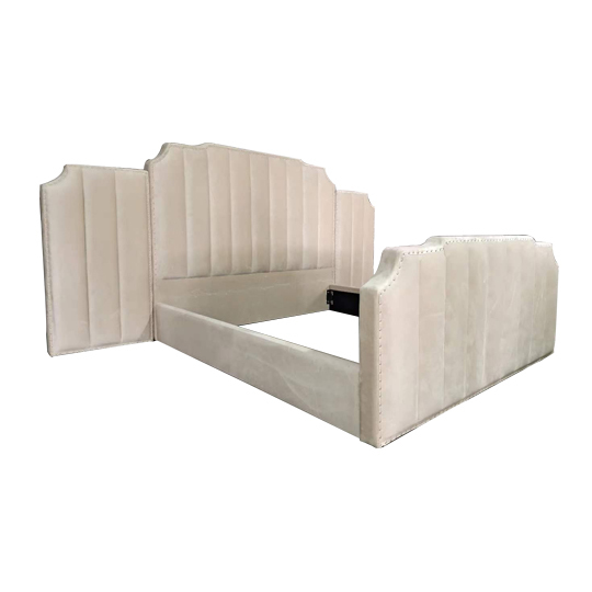 Foshan factory luxury design fabric bed FS191207