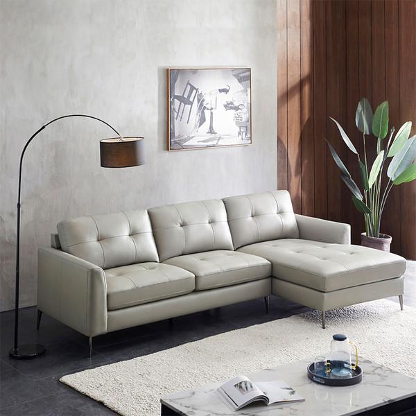中源家居简约现代品质真皮组合沙发