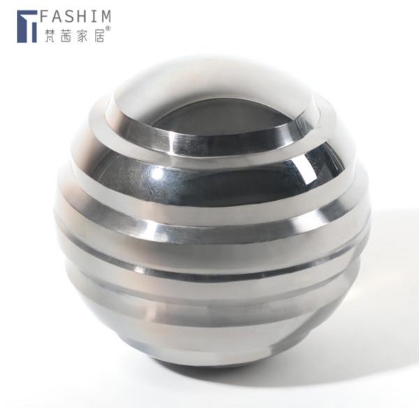 现代简约烟灰色透明几何水晶桌面摆件 样板间客厅茶几玄关工艺品