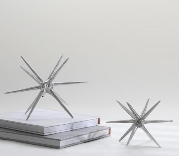 简约现代针刺玻璃球桌面小摆件 抽象海胆刺球书柜壁柜装饰摆件