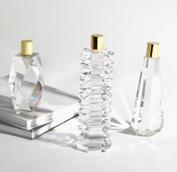 欧式家居透明水晶电视柜摆件 软装样板间简约桌面水晶瓶子饰品