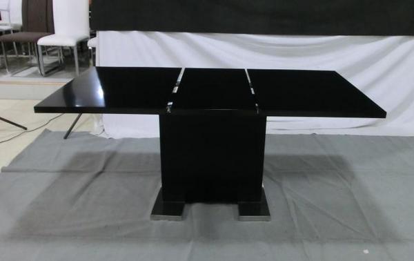 黑色可拉伸板式餐桌DT025