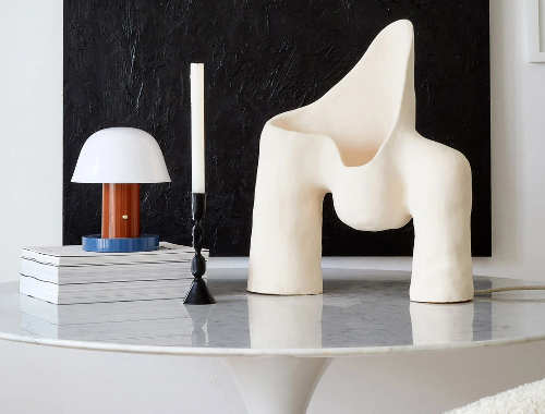 Jan Ernst designs Womb Lamp series via Galerie Revel