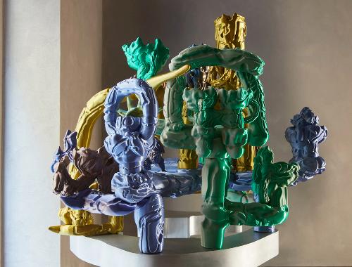 Audrey Large designs 3D-printed sculptures informed by digital graphics