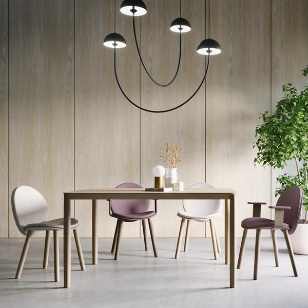 餐厅家具实木餐台布艺餐椅