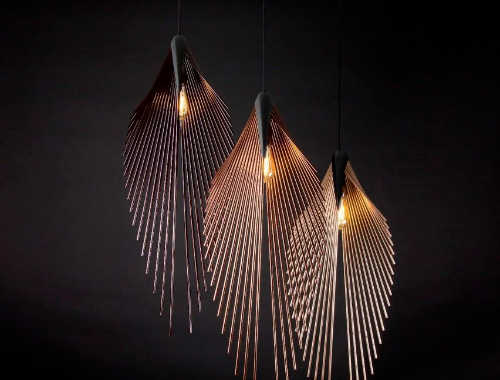 Dániel Máto designs Leaf Lamp for Loomiosa