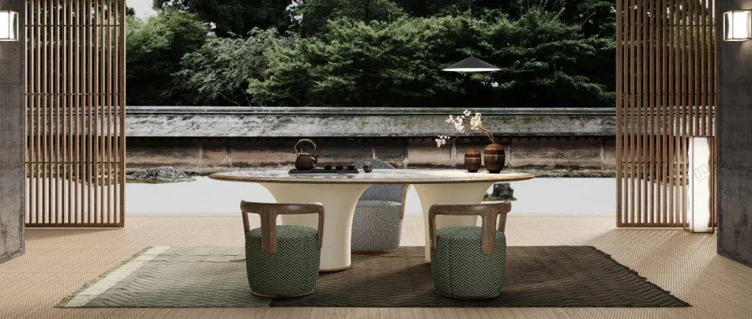 融合山水意境与灵气的茶室家具,更具东方气质   上新了家具